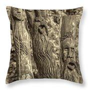 Ents Sepia Throw Pillow by Steve Harrington