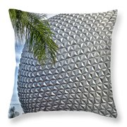Epcot Globe Throw Pillow by Thomas Woolworth