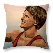 Epke Zonderland The Flying Dutchman Throw Pillow by Paul Meijering