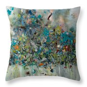Equilibrium Throw Pillow by Katie Black