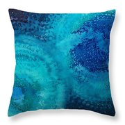 Equivalent Space Original Painting Throw Pillow by Sol Luckman