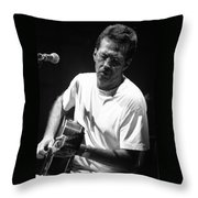 Eric Clapton 003 Throw Pillow by Timothy Bischoff