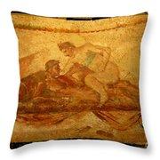 Erotic Art Of Pompeii Throw Pillow by John Malone Halifax Photographer