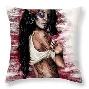 Esperanza Viva Throw Pillow by Pete Tapang