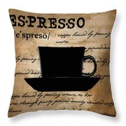 Espresso Madness Throw Pillow by Lourry Legarde