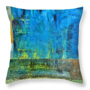Essence Of Blue Throw Pillow by Michelle Calkins