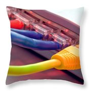 Ethernet Throw Pillow by Olivier Le Queinec