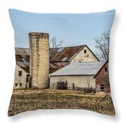 Ethridge Tennessee Amish Barn Throw Pillow by Kathy Clark