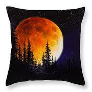 Ettenmoors Moon Throw Pillow by C Steele