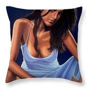 Eva Mendes Throw Pillow by Paul  Meijering