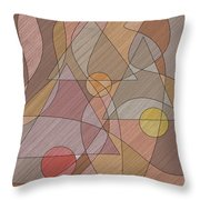 Evening Bells Throw Pillow by Val Arie