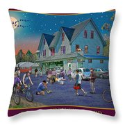 Evening In Campton Village Throw Pillow by Nancy Griswold