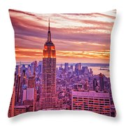 Evening In New York City Throw Pillow by Sabine Jacobs