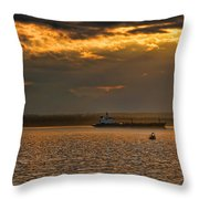 Evening Mariners Puget Sound Washington Throw Pillow by Jennie Marie Schell