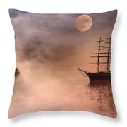 Evening Mists Throw Pillow by John Edwards