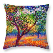 Evening Poppies Throw Pillow by Jane Small