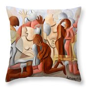 Every Knee Shall Bend Every Mouth Shall Confess Jesus Is Lord Throw Pillow by Anthony Falbo