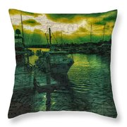 Every Port Throw Pillow by Cheryl Young