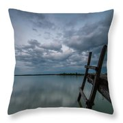 Exit Throw Pillow by Davorin Mance