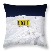 Exit Throw Pillow by Fiona Kennard