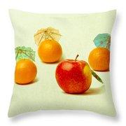 Exotic Fruit - Square Throw Pillow by Alexander Senin