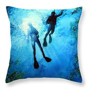 Exploring New Worlds Throw Pillow by Hanne Lore Koehler