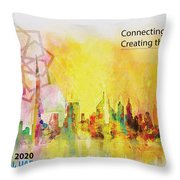 Expo Poster 1 Throw Pillow by Corporate Art Task Force