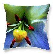 Extrem Lily Heart Throw Pillow by Danielle  Parent