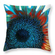 Eye Of The Sunflower Throw Pillow by Music of the Heart