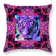 Eyes of The Bengal Tiger Abstract Window 20130205p0 Throw Pillow by Wingsdomain Art and Photography