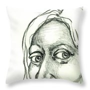 Eyes - The Sketchbook Series Throw Pillow by Michelle Calkins