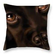 Eyes Throw Pillow by Veronica Minozzi