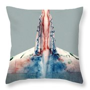 F18 Aerodynamics Throw Pillow by Nasa Dfrc