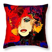 Face 14 Throw Pillow by Natalie Holland