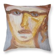 Face Five Throw Pillow by Shea Holliman