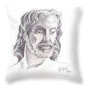 Face Of Jesus Throw Pillow by John Keaton