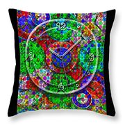 Faces Of Time 3 Throw Pillow by Mike McGlothlen