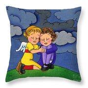 Facing It Together Throw Pillow by Sarah Batalka
