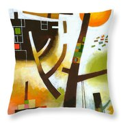 Facing The Music Throw Pillow by Douglas Simonson