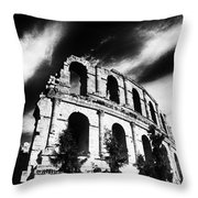 Facing time Throw Pillow by Dhouib Skander