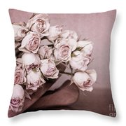 Fade Away Throw Pillow by Priska Wettstein