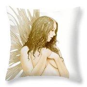 Faerie Portrait Throw Pillow by John Silver