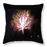Fairies In The Fireworks I Throw Pillow by Jacqueline Russell