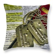 Faith Service Patriotism Throw Pillow by Thomas R Fletcher