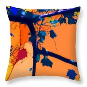 Fall Abstraction 5-2013 Throw Pillow by John Lautermilch
