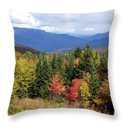 Fall Foliage Throw Pillow by Kerri Mortenson