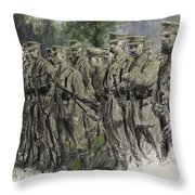 Fall in Norfolk Volunteers Throw Pillow by Frank Gillett