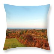 Fall Landscape Throw Pillow by Kathleen Struckle