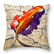 Fall Leaf Sketchbook Project Down My Street Throw Pillow by Irina Sztukowski