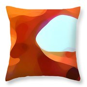 Fall Passage Throw Pillow by Amy Vangsgard